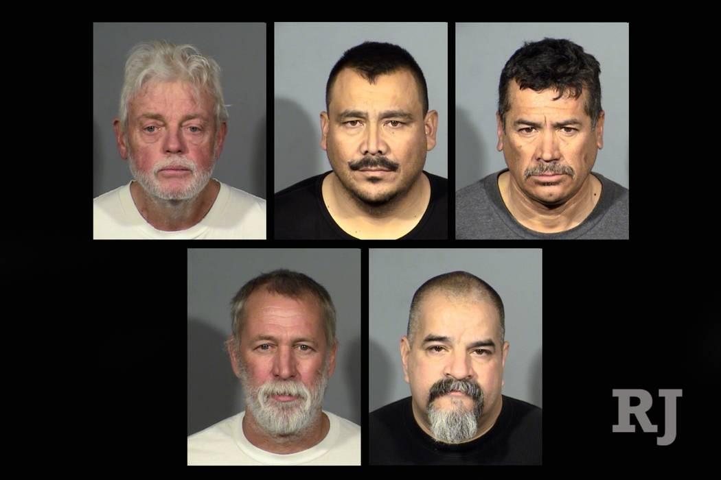 Dale Alan Wageman, Virgilio Homero Quezada, Benito Santiago, David Liam Dinicola y Richard Lee Matters, Jr. (Departamento de Policía Metropolitana de Las Vegas)