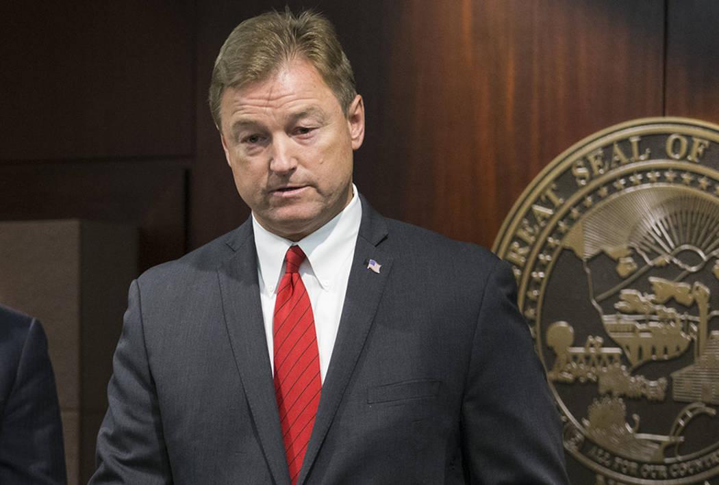 Senador de Nevada Dean Heller, visto en junio de 2017. (Las Vegas Review-Journal)