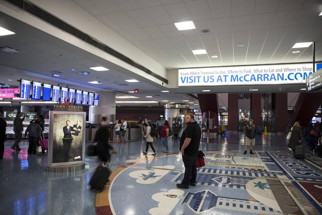 Terminal 1 en el aeropuerto internacional McCarran en Las Vegas. (Erik Verduzco / Las Vegas Review-Journal)