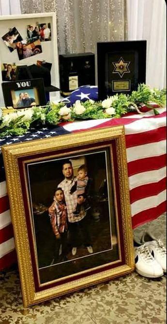 Fotos de Phillip Albert Archuleta en su memorial el domingo, 7 de enero. Foto cortesía de Lisa Garcia.