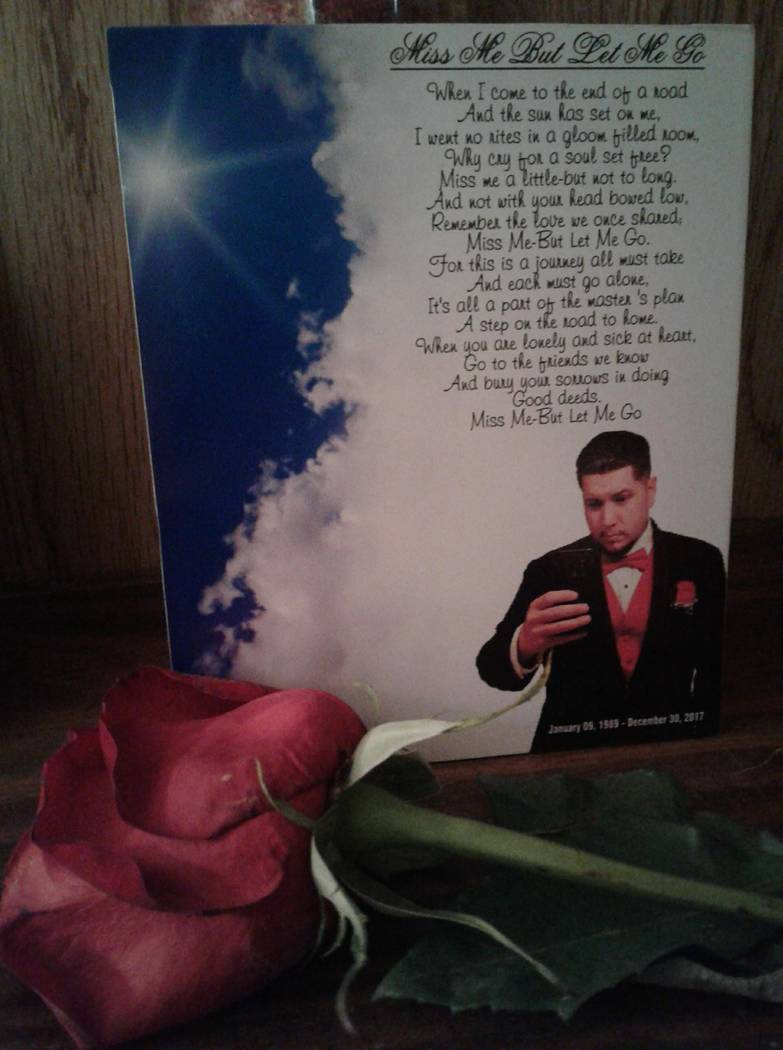 El recuerdo en el memorial de Phillip Archuleta. Foto cortesía de Lisa Garcia.