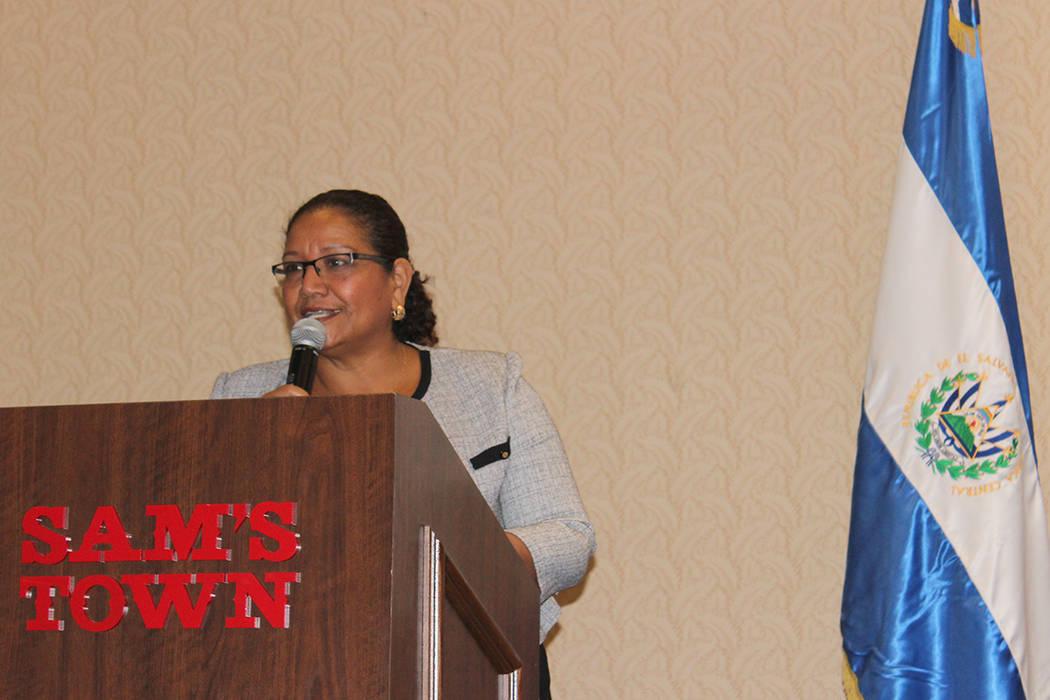 Liduvina Magarín, viceministra de Relaciones Exteriores de El Salvador, comentó que el tema del TPS preocupa a sus compatriotas con familia en Estados Unidos. 13 de enero del 2018 en Sams Town C ...