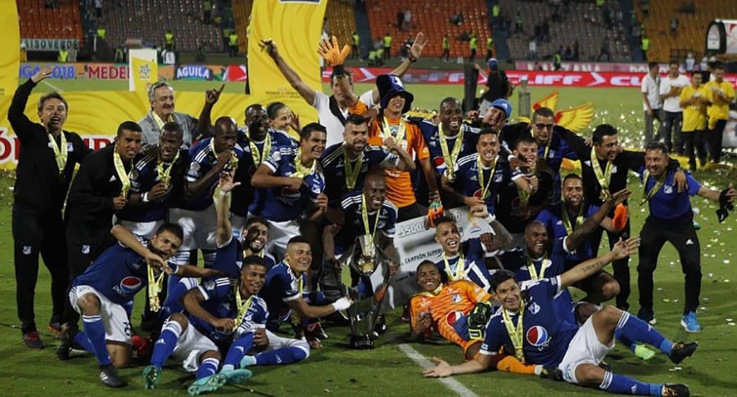 Millonarios celebran un título más en Colombia. [Foto Cortesía]
