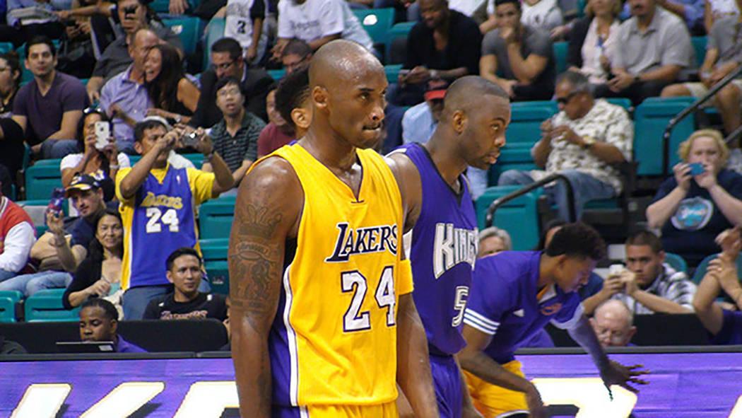 Kobe Bryant durante un partido de pretemporada en Las Vegas en 2015. [Foto Anthony Avellaneda / El Tiempo]