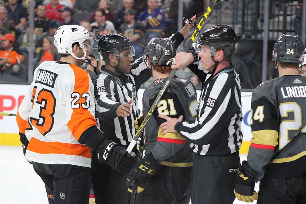 Vegas Golden Knights y Philadelphia protagonizaron un partido intenso. 11 de febrero de 2018 en T-Mobile Arena. [Foto Cristian De la Rosa / El Tiempo - Contribuidor]