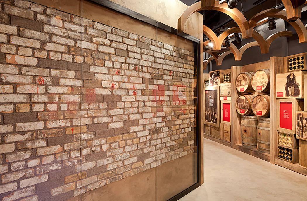 Muro de masacre del día de San Valentín en el Museo de la mafia (Museo de la mafia)