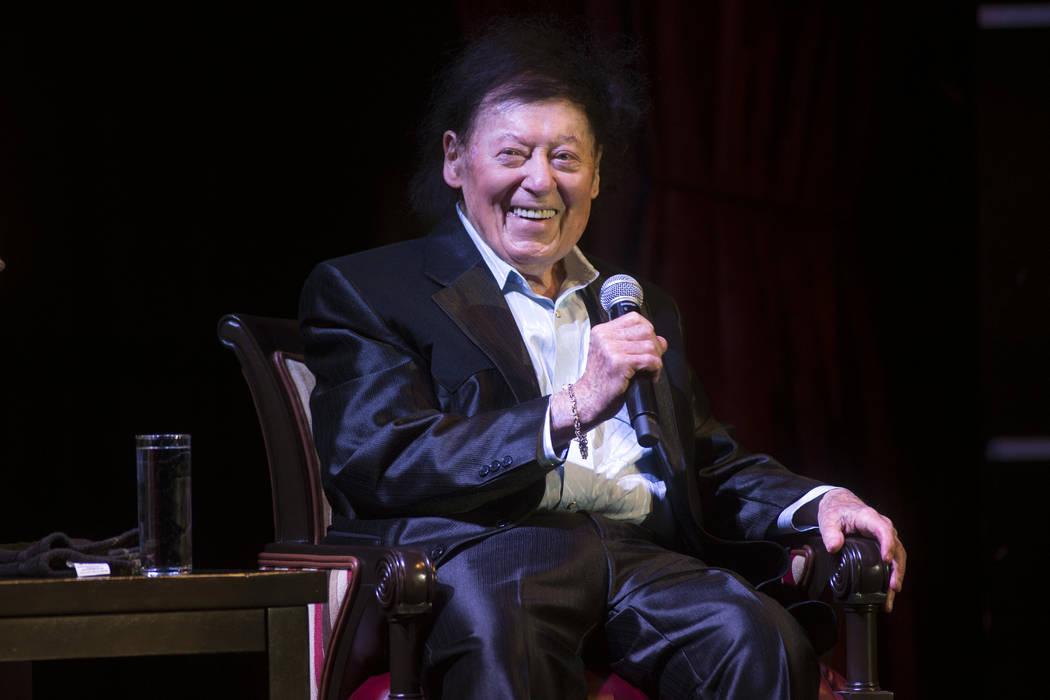 El comediante Marty Allen celebra su 95º cumpleaños con un espectáculo en el South Point el jueves 23 de marzo de 2017. (Sam Morris / Las Vegas News Bureau)