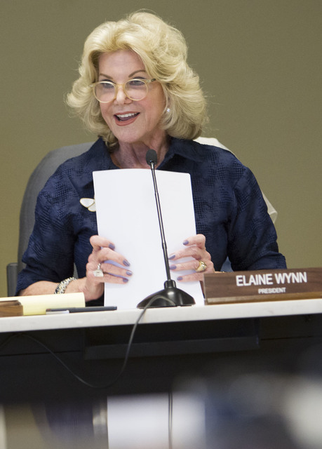 Elaine Wynn. Richard Brian/Las Vegas Review-Journal Siga a @vegasphotograph