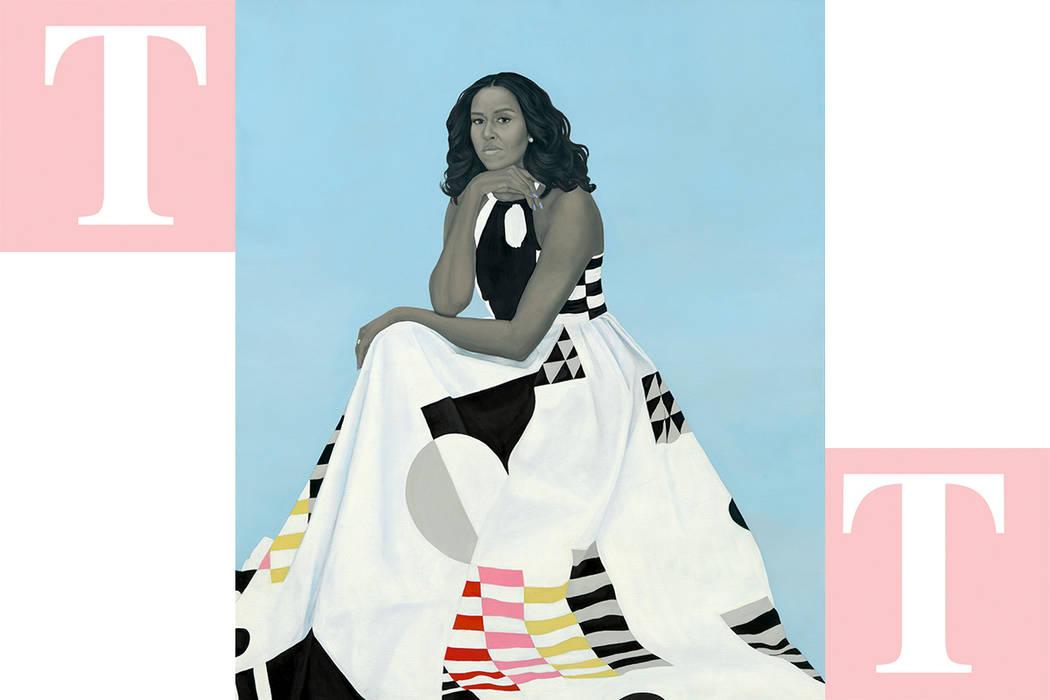 Retrato de la ex-primera dama de EE.UU., Michelle Obama. [Foto Notimex]