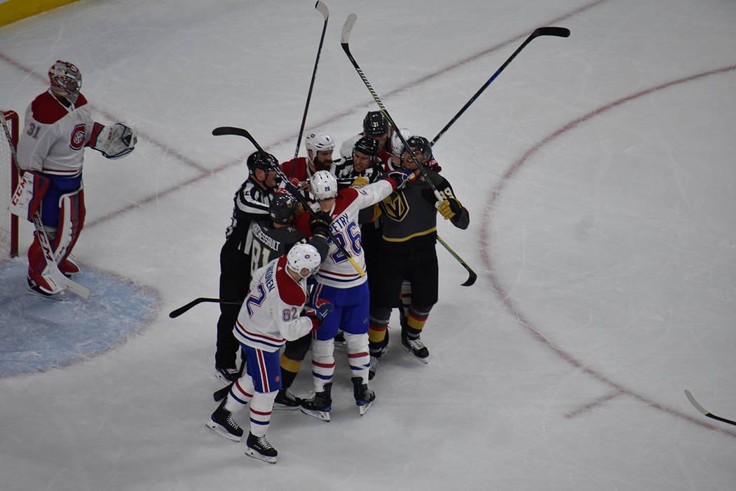 Los canadienses se fueron con una derrota propiciada por el representativo de Las Vegas. 17 de febrero de 2018 en T-Mobile Arena de Las Vegas. Foto Anthony Avellaneda / El Tiempo.