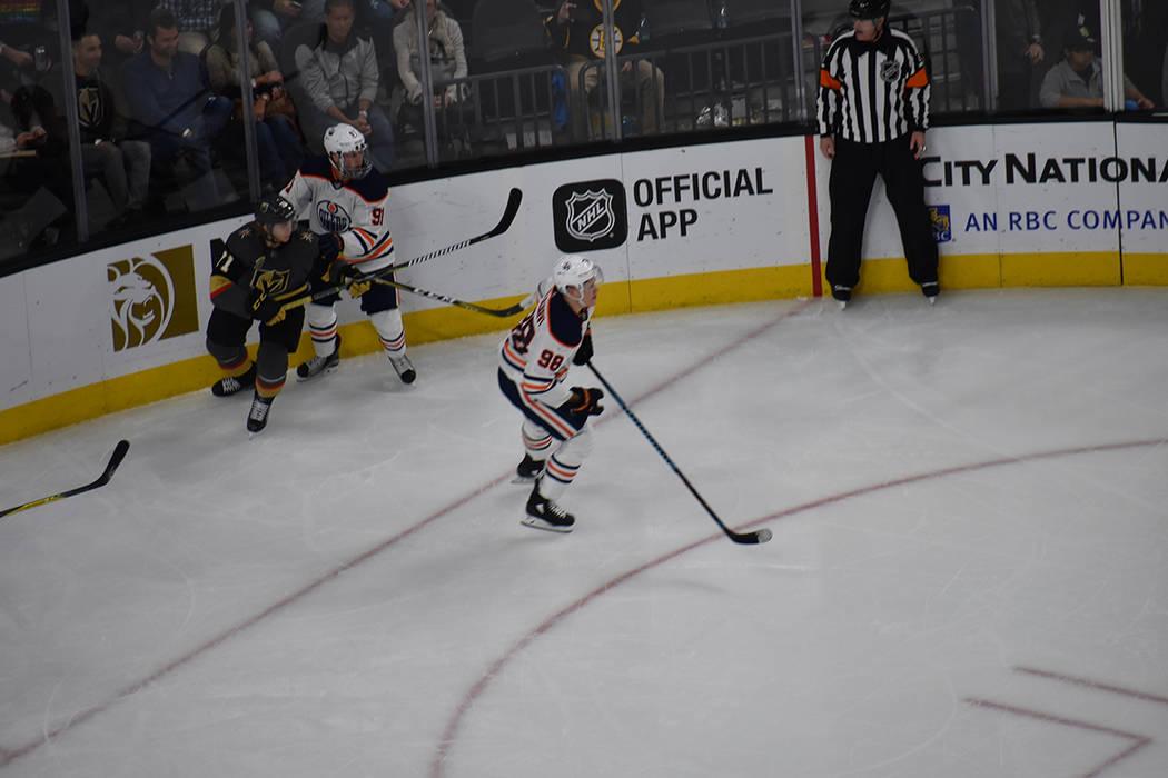 Golden Knights consiguió la revancha ante Oilers. 15 de febrero de 2018 en T-Mobile Arena. Foto Anthony Avellaneda / El Tiempo.
