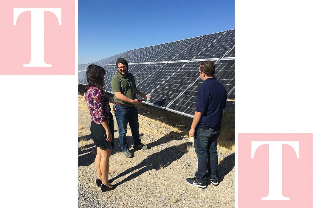 ARCHIVO.- Miembros de organizaciones ambientalistas revisan paneles solares. [ Foto Cortesía ]