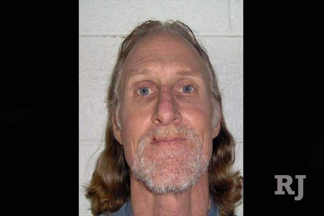 Ronald Dufloth, visto en una foto de reserva sin fecha, está acusado de robar un banco de Wells Fargo en Las Vegas el 10 de enero. (Departamento de Correcciones de Nevada)