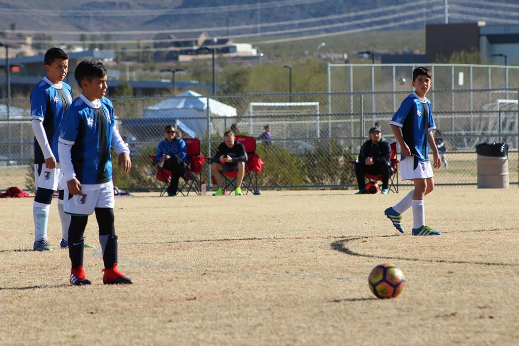 Gallos Blancos de Querétaro, participo con su categoría 2008. 17 de febrero de 2018 en Heritage Park. Foto El Tiempo. [Foto Cristian De la Rosa / El Tiempo - Contribuidor]