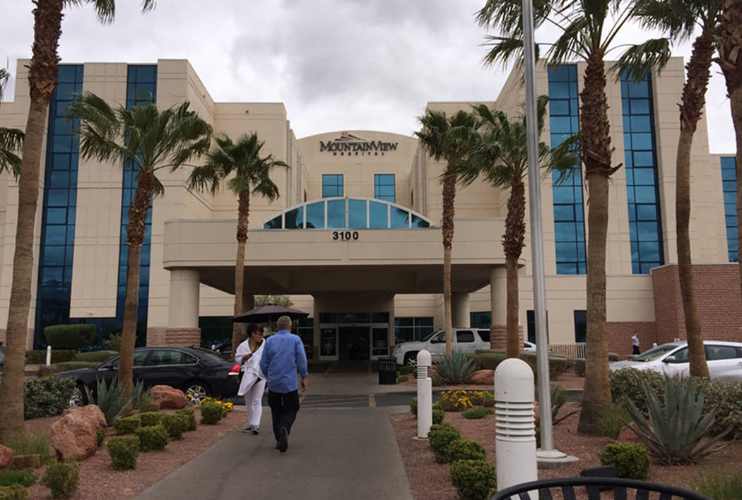 Hospital de MountainView, 3100 N. Tenaya Way, en Las Vegas (Las Vegas Review-Journal)