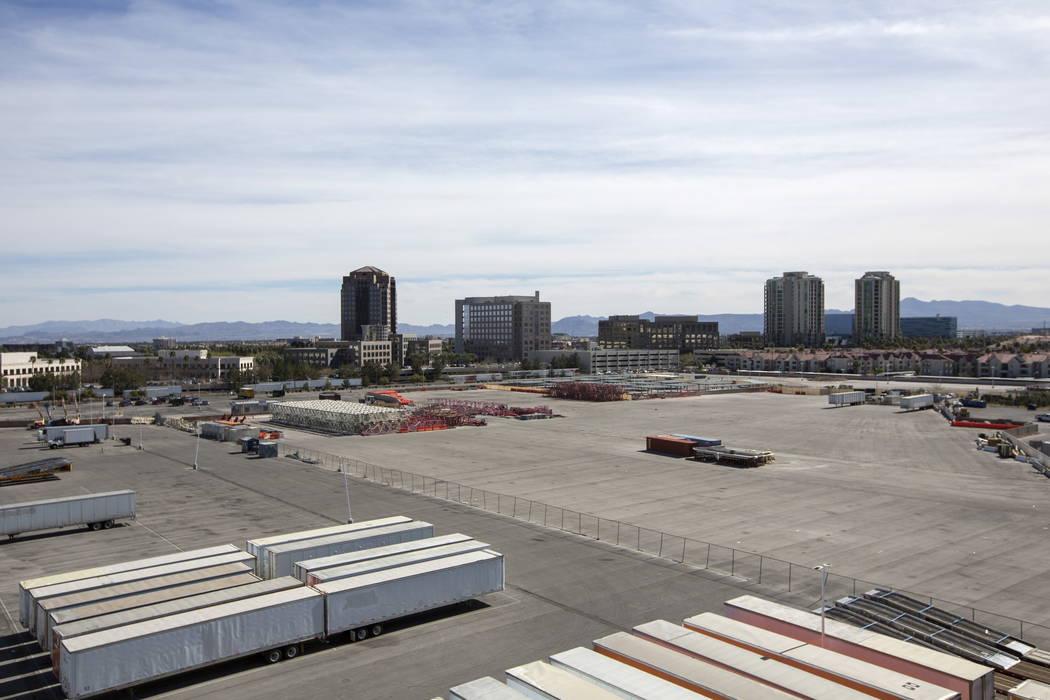 La ubicación propuesta para el nuevo MSG Sphere Arena de 18 mil asientos del Madison Square Garden Co. en la esquina de S. Koval Lane y la avenida Sand en Las Vegas, el viernes 16 de febrero de 2 ...