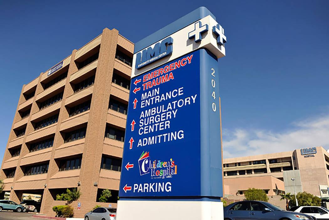 El hombre fue llevado al Centro Médico Universitario (University Medical Center) con heridas graves, pero poco tiempo después murió. (Archivo de Las Vegas Review-Journal)