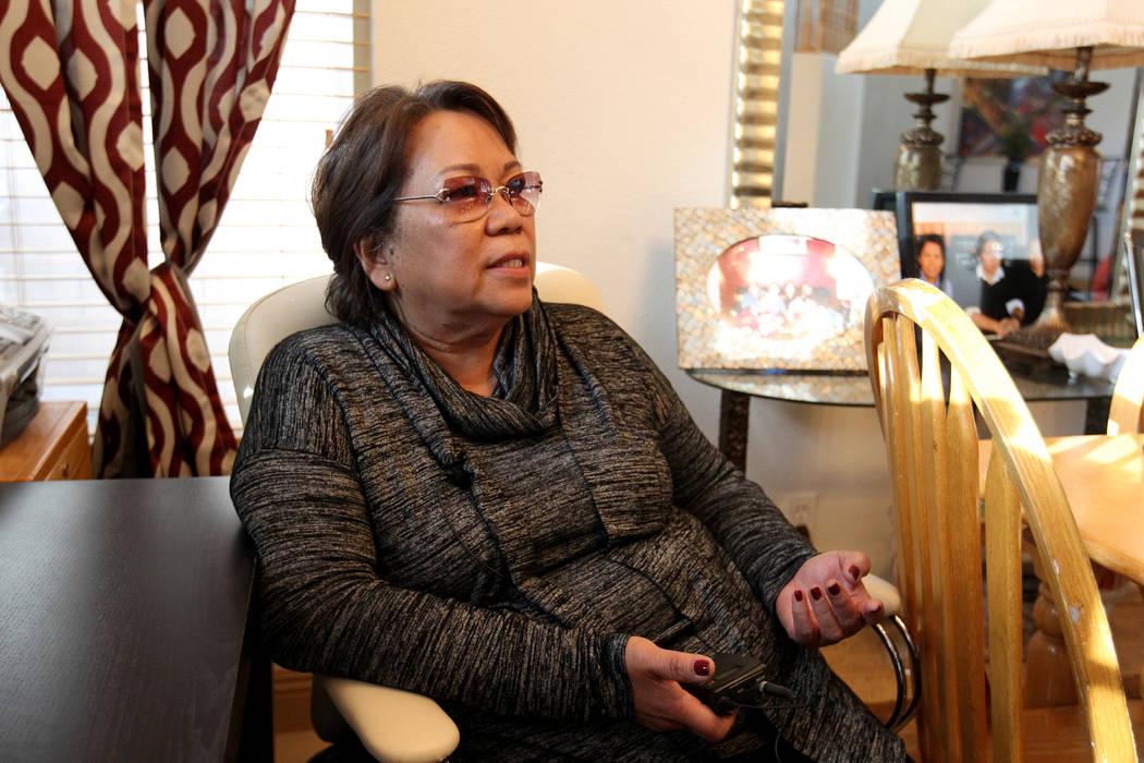 """Rose Marie Caymo habla con un reportero el miércoles 21 de febrero de 2018 en una de sus casas de """"vida independiente"""" donde alquila habitaciones a varios clientes. K.M. Cannon Las Vegas Review-J ..."""