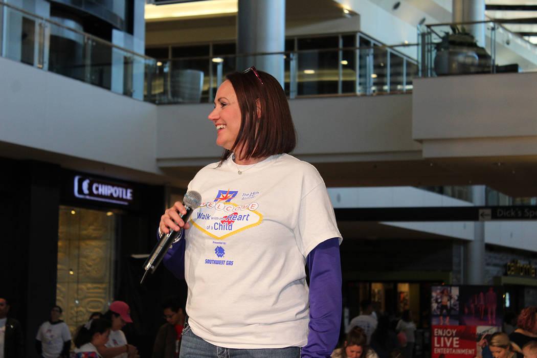 Kelly McClellan, directora de Children´s Heart Foundation, dijo que la caminata también es para honrar a los niños que han fallecido por estos males. Sábado 24 de febrero de 2018 en Fashion Sh ...