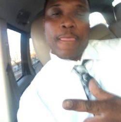 Una imagen de Tashii Brown que se mostró en su funeral en el Recinto Funerario Davis el 3 de junio de 2017 en Las Vegas.