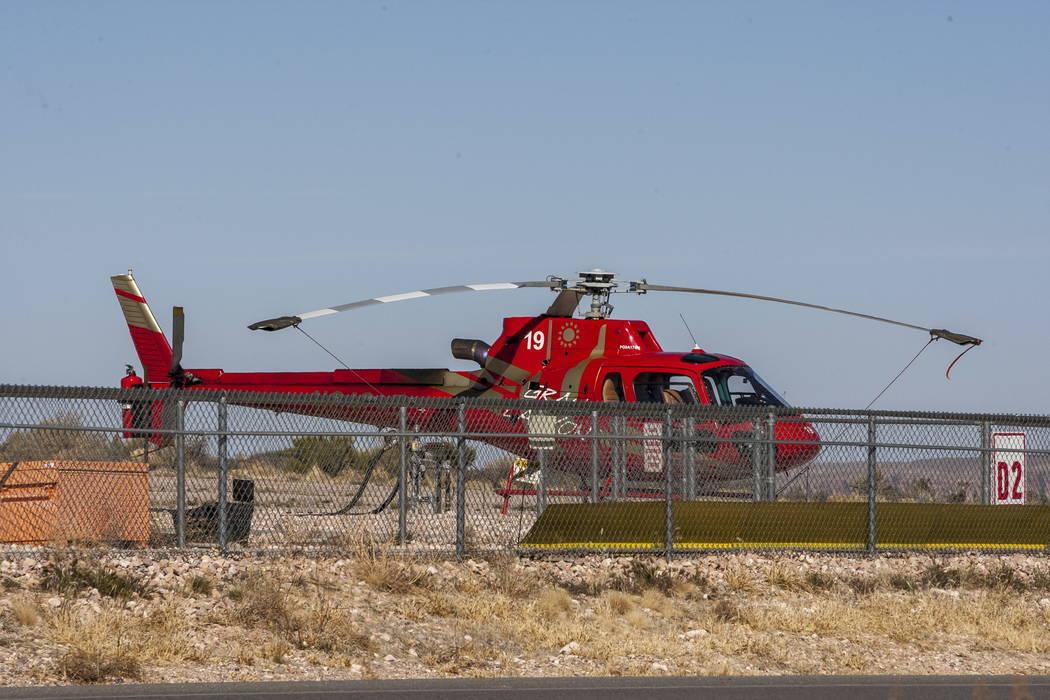 Un helicóptero Papillon en el Gran Cañón Oeste en la Reservación India de la Nación Hualapai en Arizona el domingo 11 de febrero de 2018. (Patrick Connolly / Las Vegas Review-Journal) @PConnPie