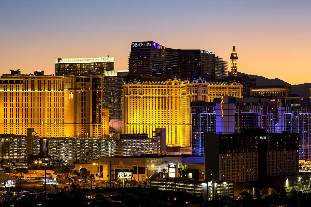 El Strip de Las Vegas el viernes, 16 de febrero de 2018. Richard Brian Las Vegas Review-Journal @vegasphotograph