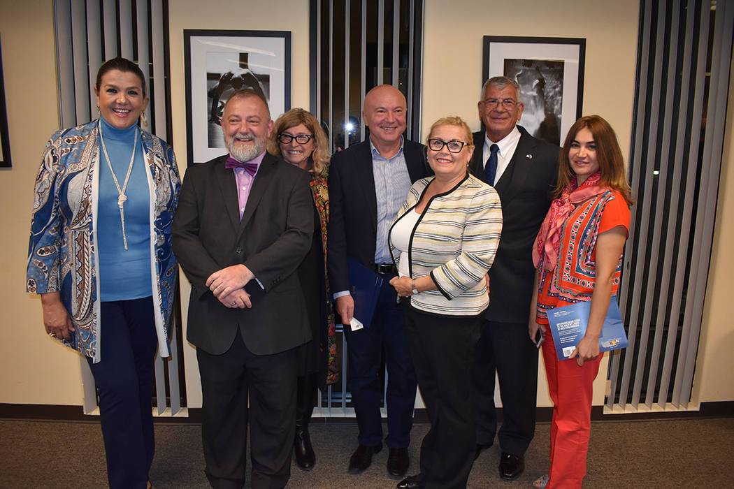Diplomáticos y representantes de funcionarios de Nevada se unieron al inicio de la celebración por los 100 años de Independencia de República Checa. Miércoles 21 de febrero de 2018 en Consula ...