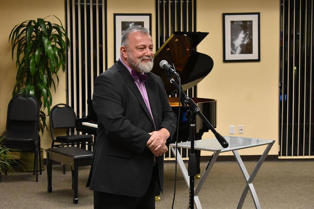 El embajador de República Checa en EE.UU., Hynek Kmoníček, fue uno de los invitados de honor. Miércoles 21 de febrero de 2018 en Consulado Honorario de República Checa en Las Vegas. Foto Anth ...