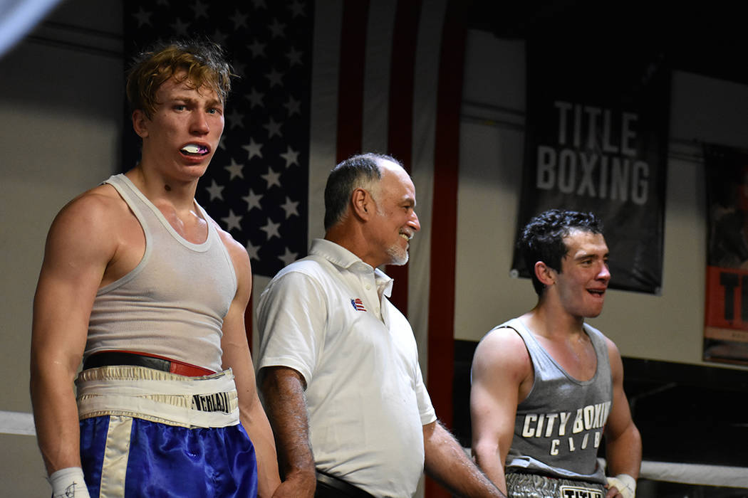 Aerin Ringler perdió ante Austin Griese por decisión de los jueces. Sábado 24 de febrero en City Boxing Club. Foto Anthony Avellaneda / El Tiempo.