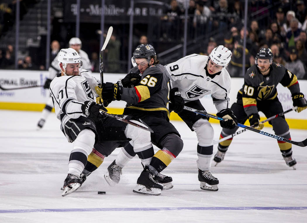 Vegas Golden Knights durante un partido contra Los Ángeles Kings en el T-Mobile Arena de Las Vegas. Foto Patrick Cannolly / Las Vegas Review-Journal.