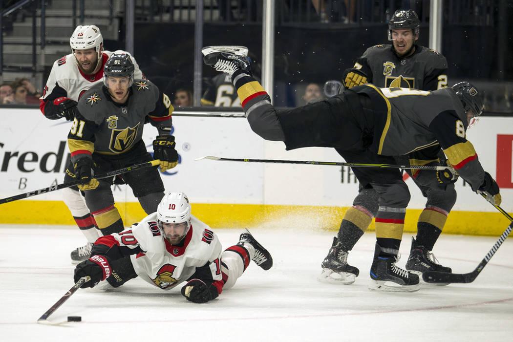 Ottawa Senators derrotó a domicilio a Vegas Golden Knight. [Foto AP]