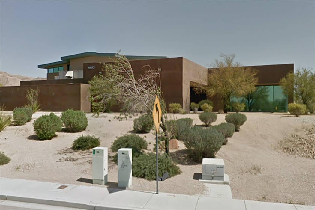 Centro de Recreación de Hollywood (Hollywood Recreation Center) en la finca Sunrise (Manor) en el este de Las Vegas (Google maps)