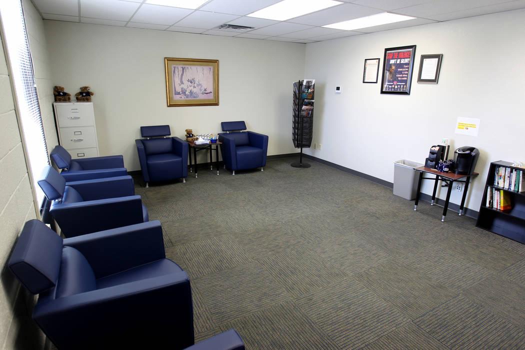 Una sala de espera en el Centro de Justicia Familiar del Sur de Nevada en 861 N. carretera Mojave en Las Vegas el jueves 1 de marzo de 2018. K.M. Cannon Las Vegas Review-Journal @KMCannonPhoto
