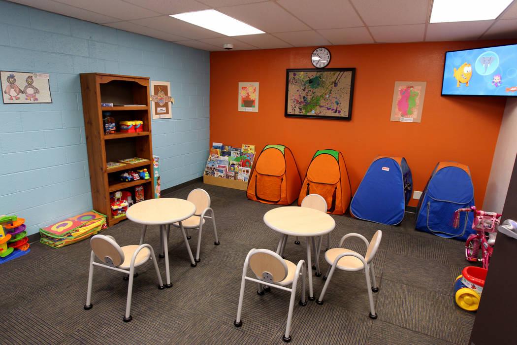 Un área de juegos para niños en el Centro de Justicia Familiar del Sur de Nevada en 861 N. carretera Mojave en Las Vegas el jueves 1 de marzo de 2018. K.M. Cannon Las Vegas Review-Journal @KMCan ...