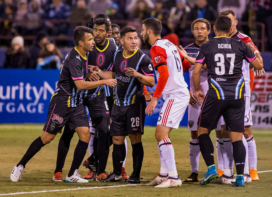 Las Vegas Lights FC disputaron un partido de pretemporada contra DC United de la MLS. Foto Cortesía Las Vegas Lights FC.