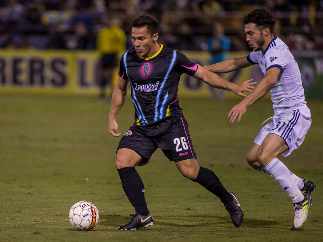 Julián Portugal fue uno de los jugadores con más participación durante la pretemporada de Las Vegas Lights FC. Foto Cortesía Las Vegas Lights FC.