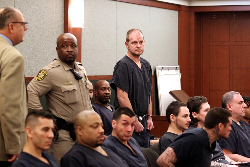 El abogado inhabilitado de Las Vegas, Easton Harris, defiende su sentencia en el Centro de Justicia Regional el martes 13 de marzo de 2018, luego de haber sido acusado formalmente en agosto por es ...
