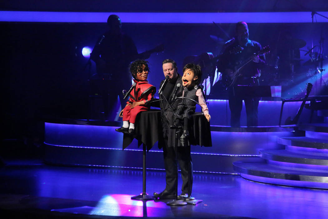 Terry Fator unió las representaciones de Michael Jackson y Paul McCartney. Lunes 12 de marzo de 2018 en hotel-casino The Mirage. Foto Cortesía.