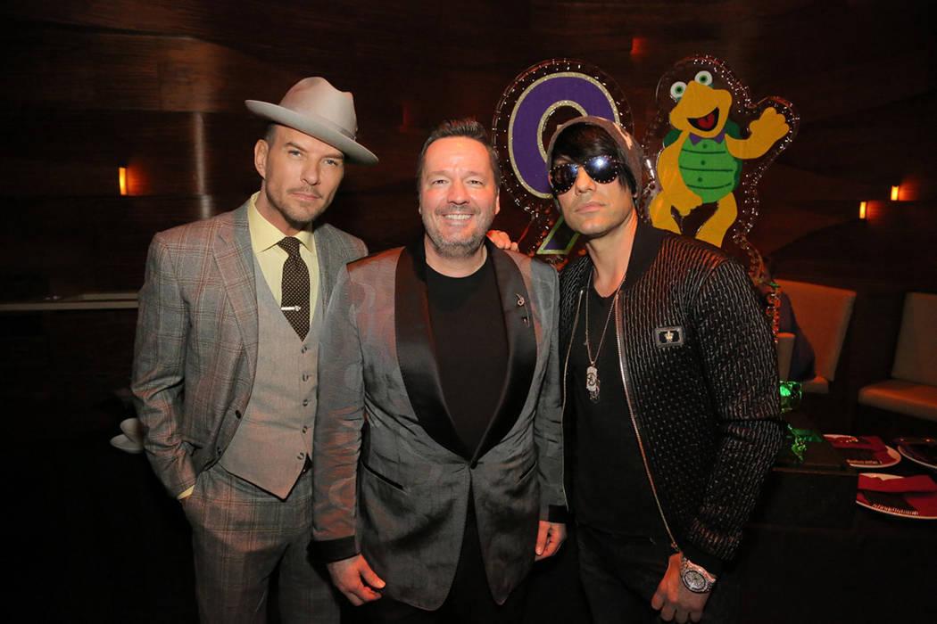 Criss Angel fue uno de los invitados especiales de Terry Fator. Lunes 12 de marzo de 2018 en hotel-casino The Mirage. Foto Cortesía.