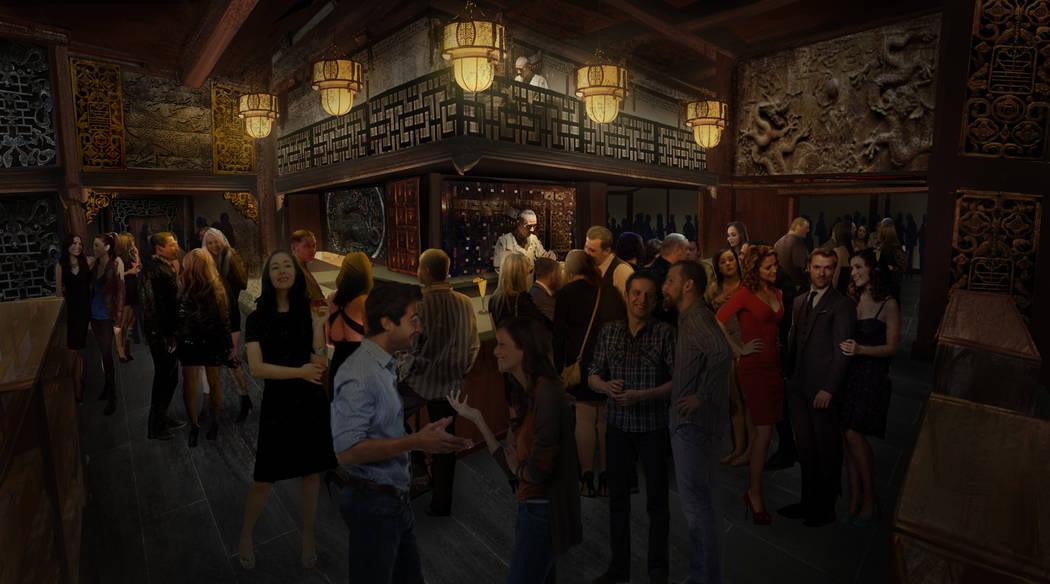 Kind Heaven incluirá múltiples áreas, incluido este bar llamado The Dispensary. La atracción en The Linq Hotel también contará con múltiples salas de música. Kind Heaven