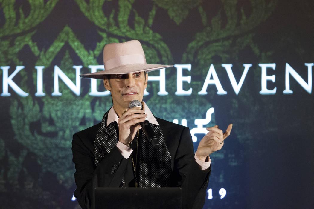 Perry Farrell, artista y principal oficial visionario de Immersive Artistry, durante una conferencia de prensa para el futuro local de entretenimiento Kind Heaven, en el hotel casino The Linq de L ...