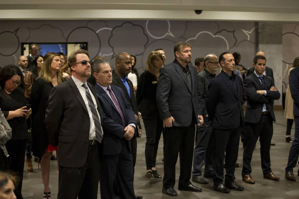 La gente asistió a una conferencia de prensa para el futuro local de entretenimiento Kind Heaven, en el hotel-casino The Linq de Las Vegas, el martes 13 de marzo de 2018. Erik Verduzco Las Vegas  ...
