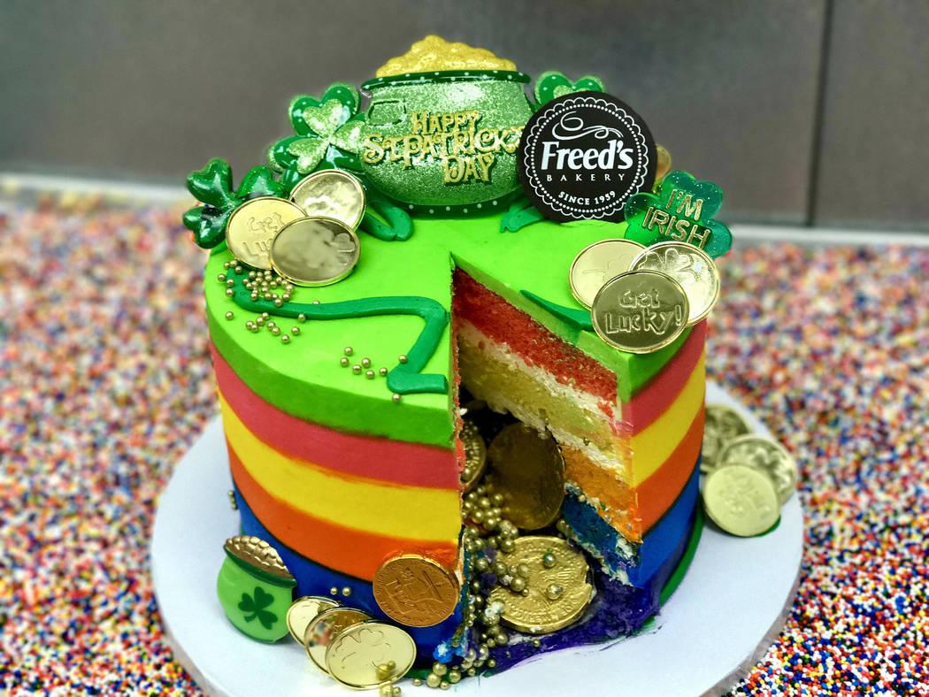 Pastel de San Patricio en Freed's Bakery