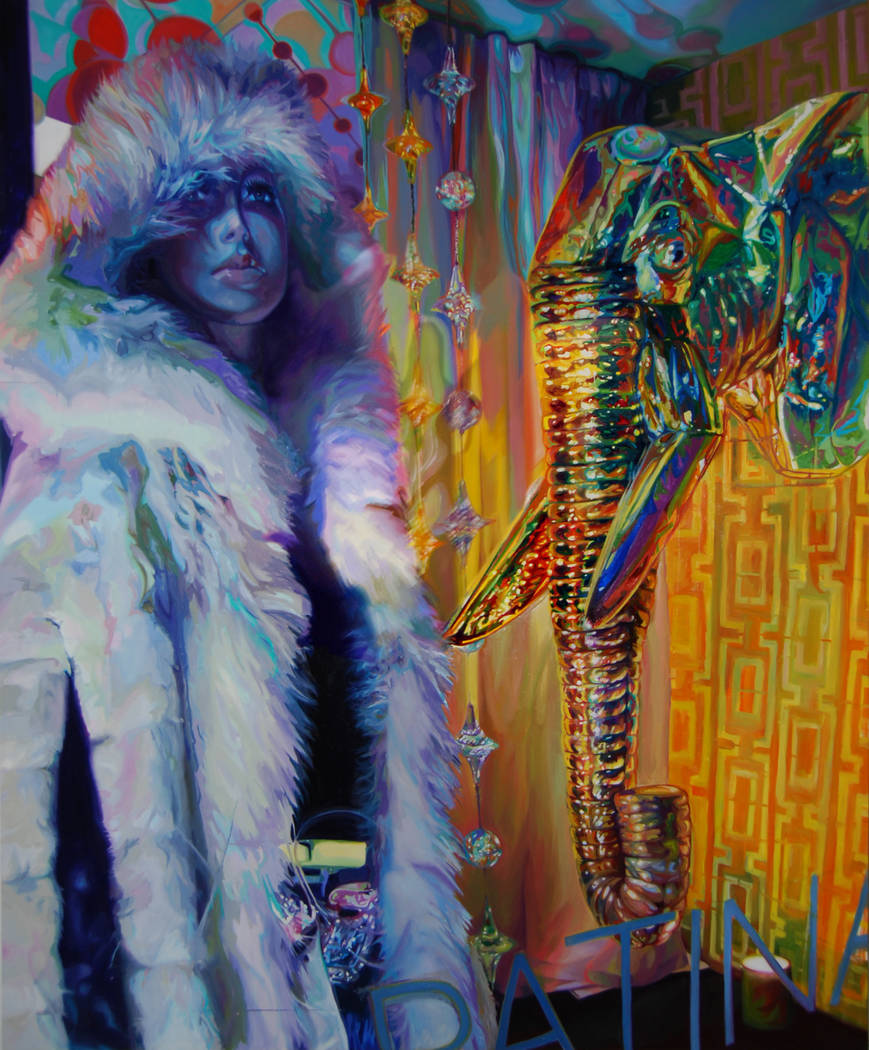 """""""Memories That Never Happened"""" aparece en """"Elegant Creatures"""", una exposición de pinturas de Lolita Develay que se extenderá hasta el 10 de abril en Enterprise Library. (Distrito de Bibliotecas  ..."""