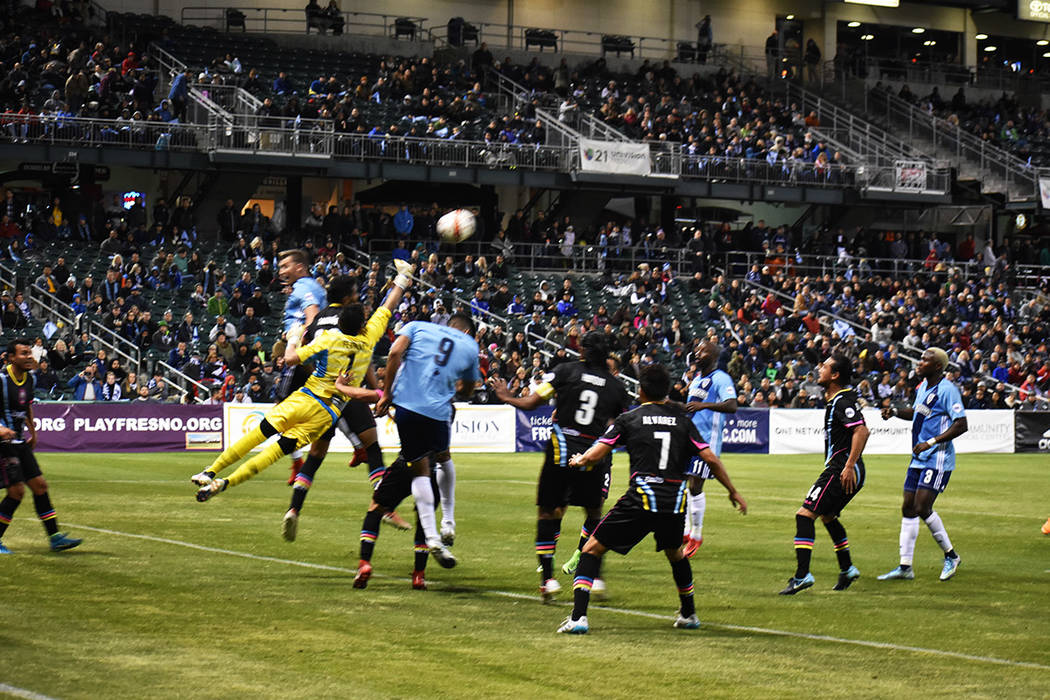 Ricardo Ferriño tuvo una destacada actuación ante Fresno FC. Sábado 17 de marzo de 2018 en estadio Chukchansi de Fresno, California. Foto Anthony Avellaneda / El Tiempo.