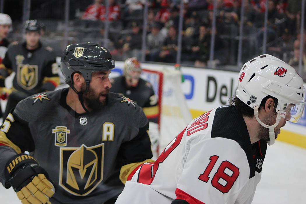 A pesar de la marca de Vegas Golden Knights, New Jersey Devils lograron 8 anotaciones. Miércoles 14 de marzo del 2018 en T-Mobile Arena. Foto Cristian De la Rosa / El Tiempo - Contribuidor.