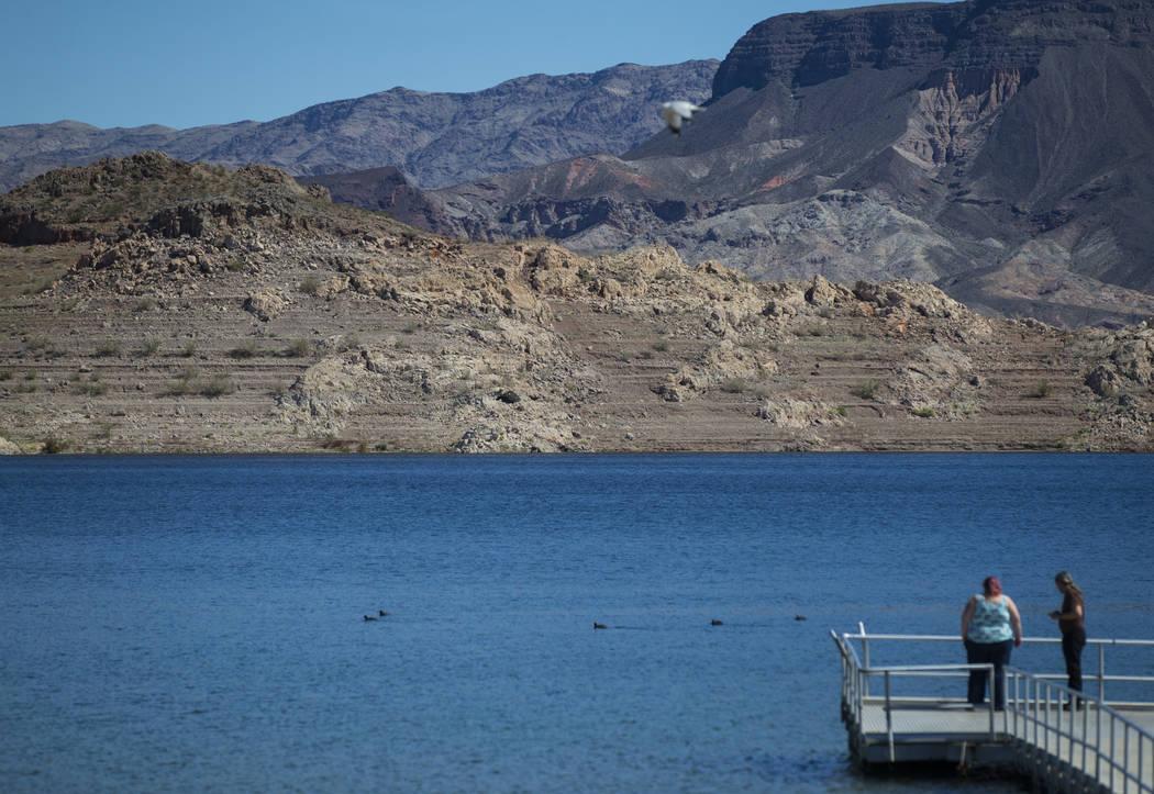 Una vista de Boulder Basin desde Boulder Beach en Lake Mead National Recreation Area el lunes 19 de marzo de 2018. (Chase Stevens / Las Vegas Review-Journal) @csstevensphoto