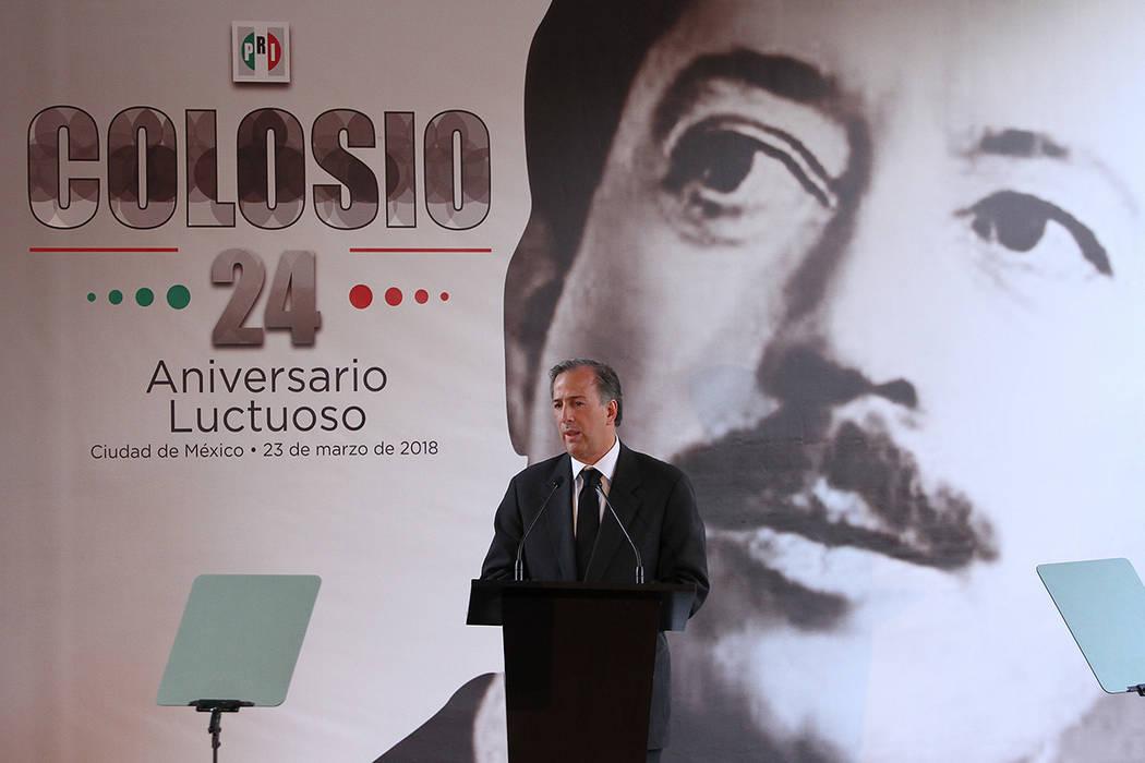 ARCHIVO.- El candidato presidencial del Partido Revolucionario Institucional, José Antonio Meade, dijo que el reto que enfrenta el país es similar al que se enfrentó en los tiempos de Luis Dona ...