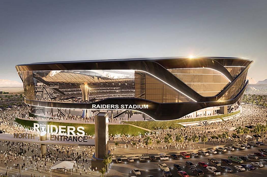 Representación del Estadio Raiders propuesto en Las Vegas (MANICA Architecture)