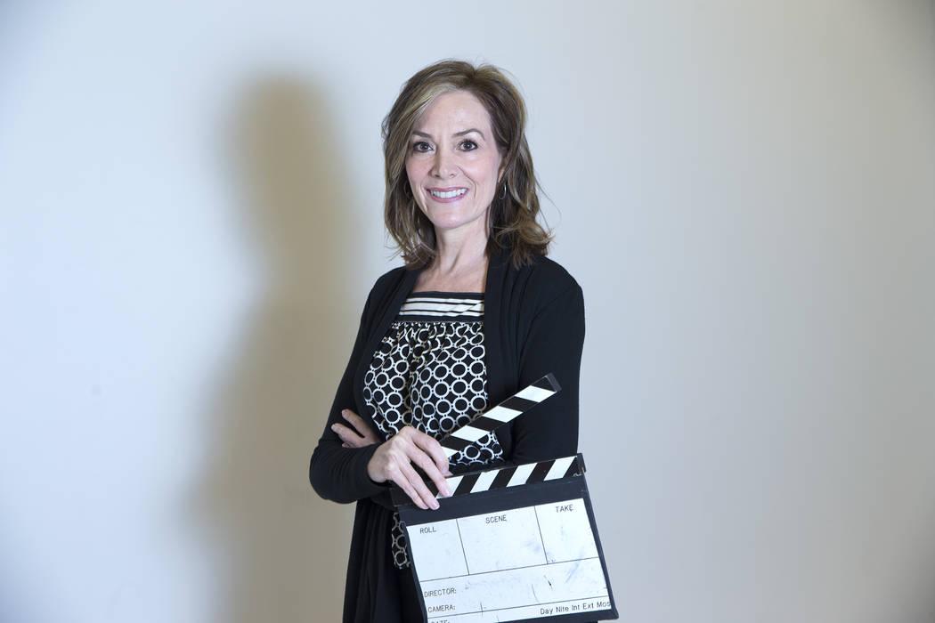 Nikki Corda, directora ejecutiva y fundadora del Nevada Women's Film Festival, en Nevada State College en Henderson, martes 20 de marzo de 2018. Corda también enseña en los departamentos de medi ...